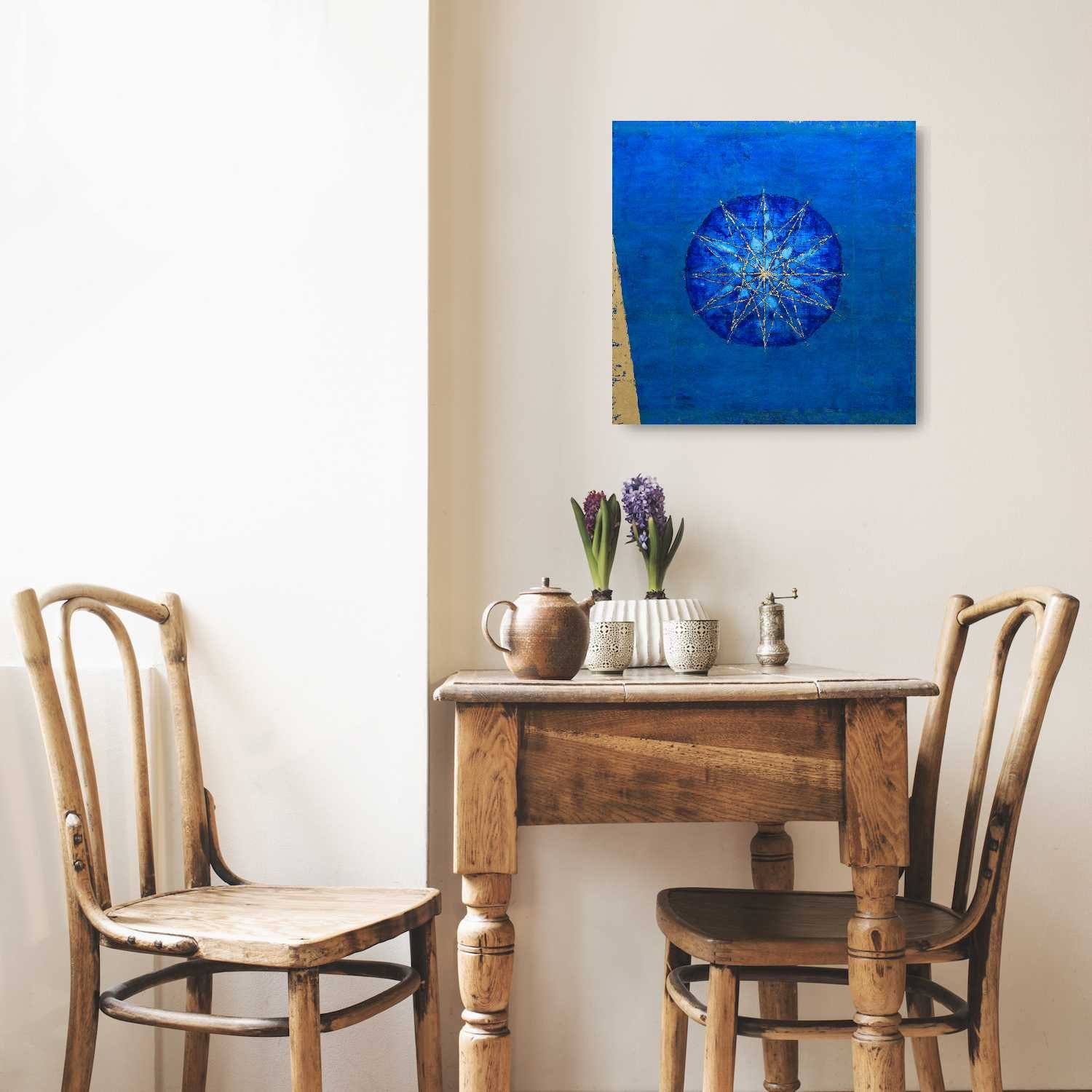 "Circle of Fifths, Oil Painting on Wooden Panel (20""x20"") - Norlynne Coar Fine Art"