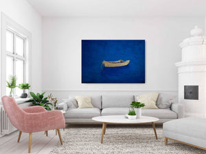 "Dory on Blue (34""x50"") - Norlynne Coar Fine Art"
