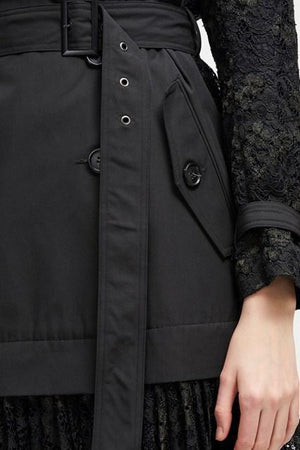 Coats Beata Cotton Lace Trench Coat French Connection Conspiracy New York