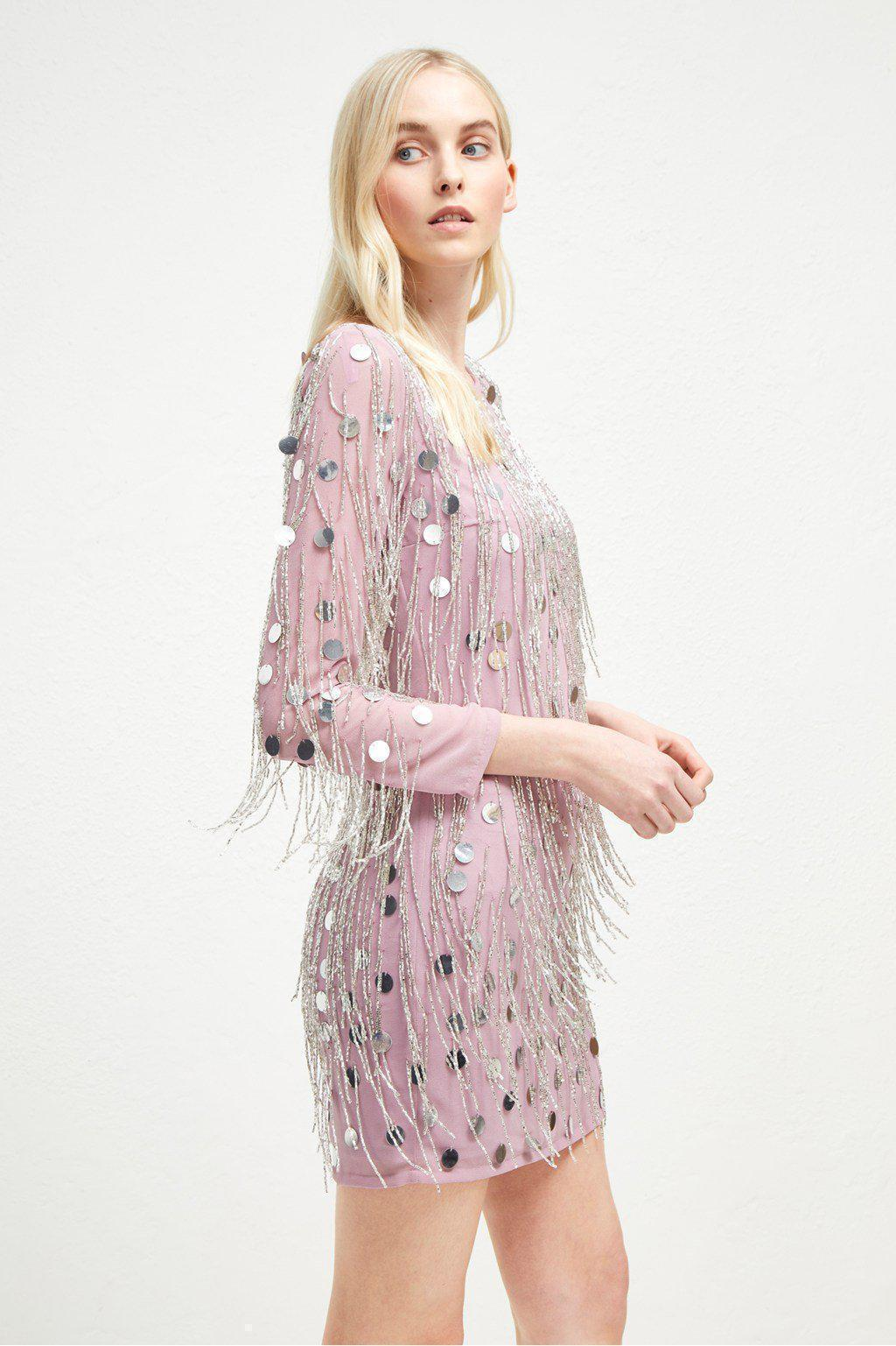 472a06f8987 Dresses Baani Fringe Beaded Tunic Dress French Connection Conspiracy New  York