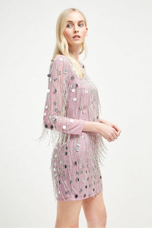 Dresses Baani Fringe Beaded Tunic Dress French Connection Conspiracy New York