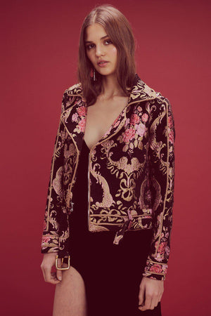 Jackets Brocade Moto Jacket For Love & Lemons Conspiracy New York