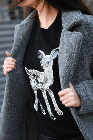 Jumpers Natalie Sequin Fawn Jumper Markus Lupfer Conspiracy New York