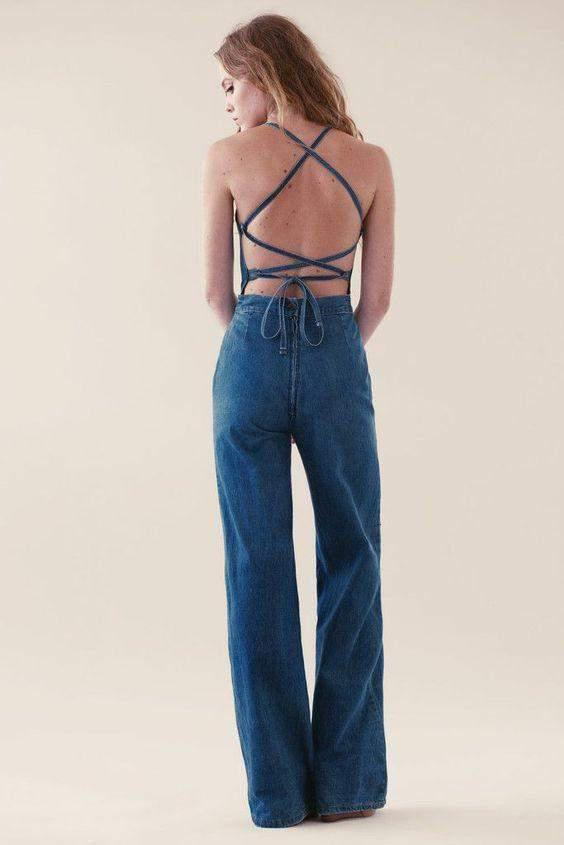 Jumpsuits Jean Genie Denim Jumpsuit Stoned Immaculate Conspiracy New York