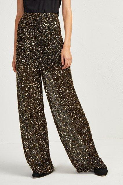 Pants Aida Sequin Wide Leg Trousers French Connection Conspiracy New York