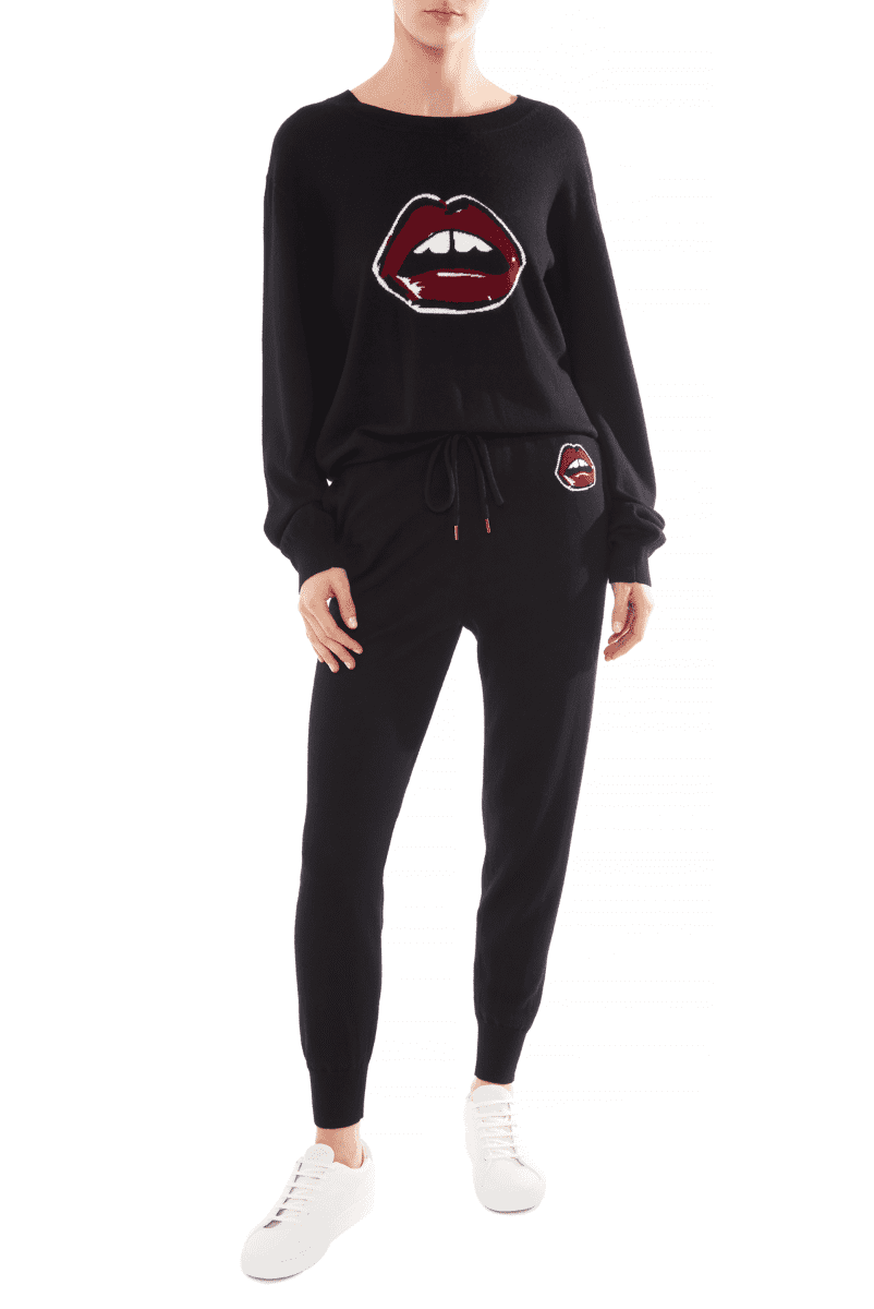 Pants Knit Painted Lip Intarsia Jogger Markus Lupfer Conspiracy New York