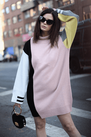 Sweaters Abito Color Block Sweater Dress MRZ Conspiracy New York