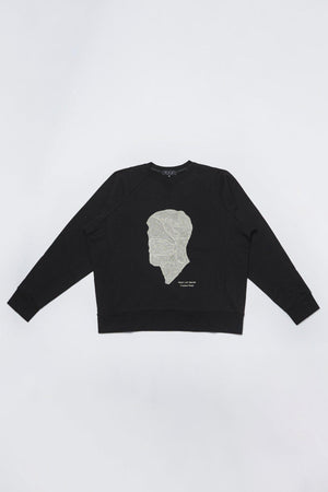 Sweatshirts Men In Silhouette Oversized Cotton Sweatshirt Project Life Creation Conspiracy New York