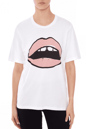 Tees Alex Painted Lip Tee Markus Lupfer Conspiracy New York