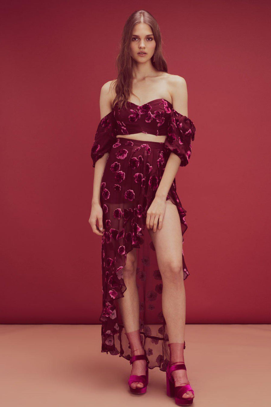 Top Sophie Velvet Floral Top For Love & Lemons Conspiracy New York