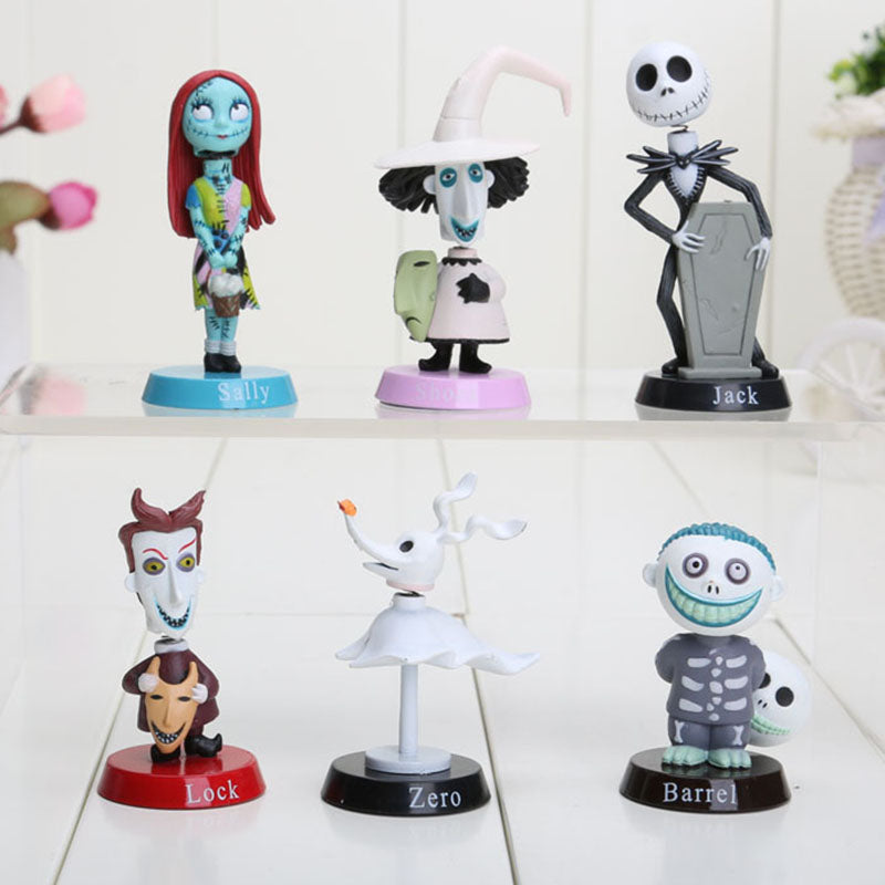 6pcsset nightmare before christmas action figures jack skellington - Nightmare Before Christmas Action Figures