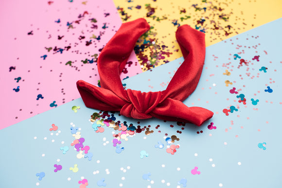 Red Velvet Tie Knot Headband