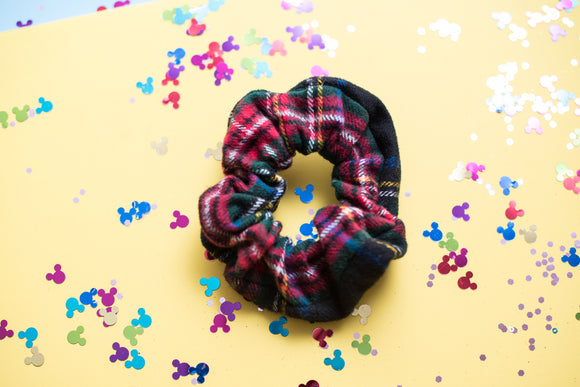 Winter Plaid Scrunchie