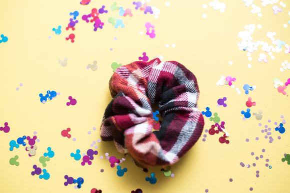 Pumpkin Plaid Scrunchie