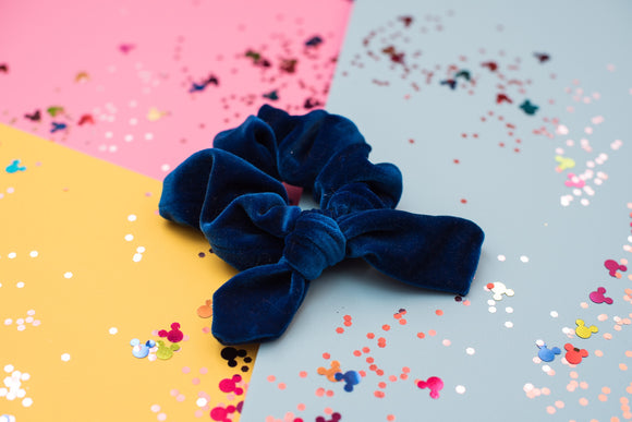 RTS Blue velvet Scrunchie