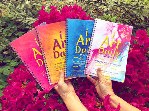 iArtDaily - 30 Day Intuitive Art Journals - Mixed Media
