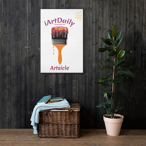 Artsicle purple 1 brush w/ LOGO Canvas