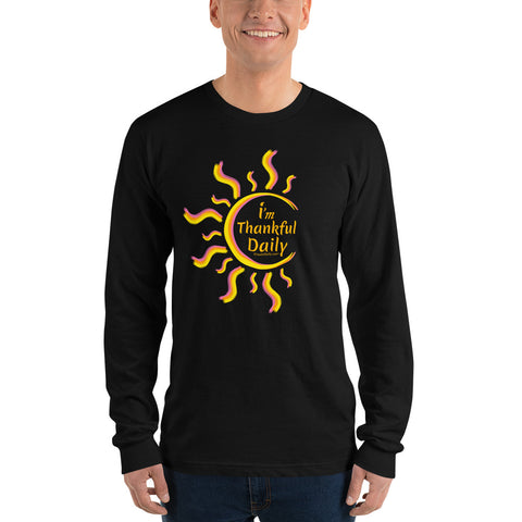 imThankfulDaily - Long sleeve t-shirt (unisex) (iCreateDaily back design)