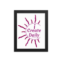 iCreateDaily Purple Creator's Framed Poster