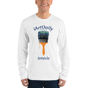 Artsicle blue 1 brush Long sleeve t-shirt (unisex)