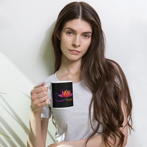 iYoga Daily Flower Black black Mug