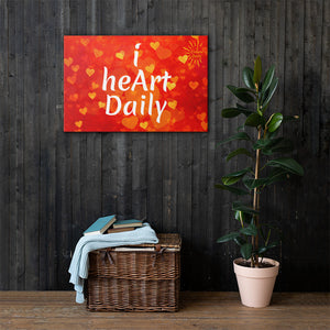I Heart Daily Canvas