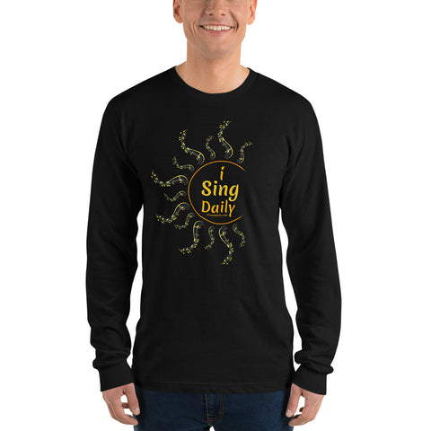 iSingDaily - Long sleeve t-shirt (unisex) (iCreateDaily back design)