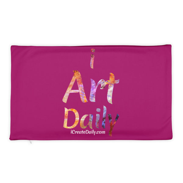I Create Daily & I Art Daily Basic Pillow Case only