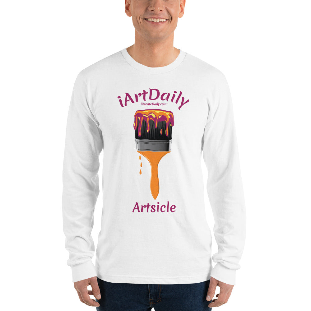 Artsicle purple 1 brush Long sleeve t-shirt (unisex)