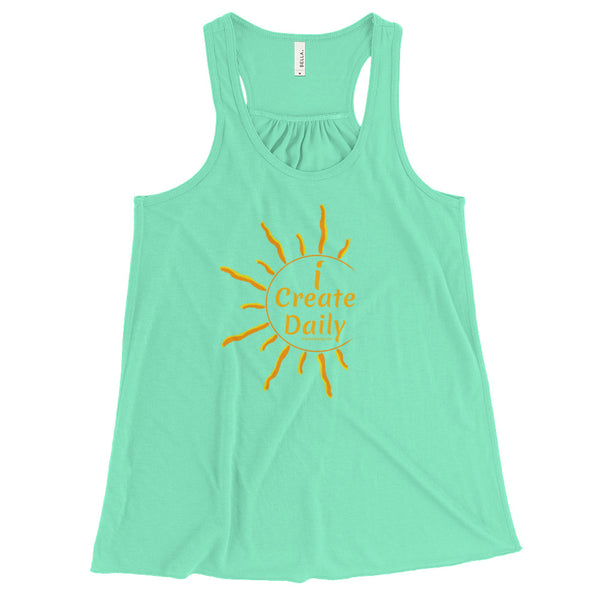 WOMEN'S FLOWY RACERBACK TANK TOP -  Bella cute tank tops, comfy and flattering