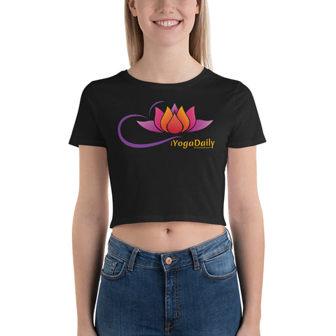 iYogaDaily Lotus Women's Crop Tee