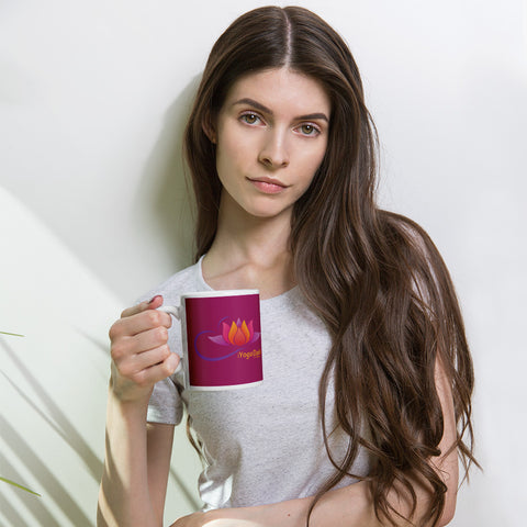 iYoga Daily Flower purple Mug