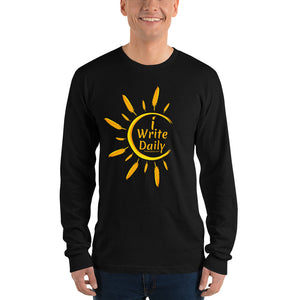 iWriteDaily - Long sleeve t-shirt (unisex) (iCreateDaily back design)