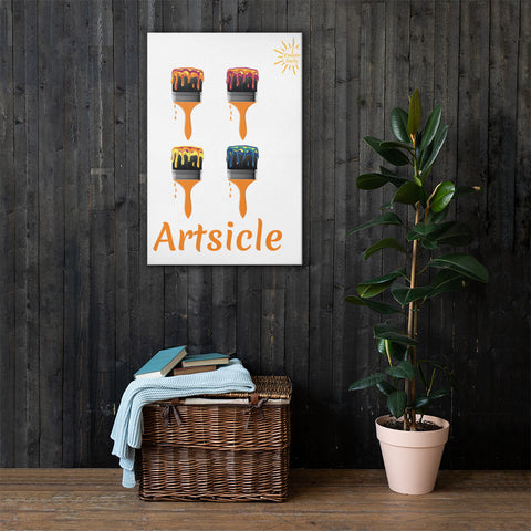 Artsicle 4 brush w/ LOGO Canvas