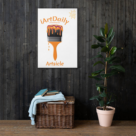Artsicle orange 1 brush w/ LOGO Canvas
