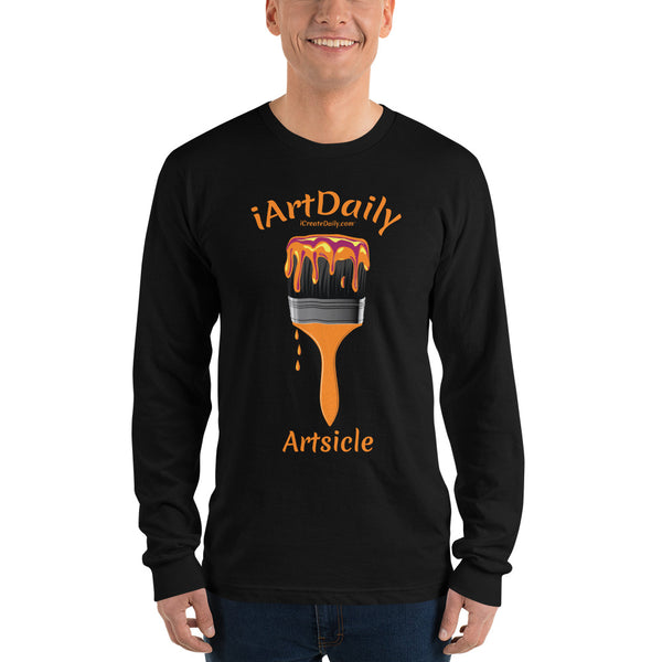 Artsicle orange 1 brush Long sleeve t-shirt (unisex)