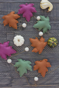 Fall Leaf Garland Kit - With Charcuterie