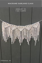 Macrame Garland Class: January 30th; 7:00-9:00pm