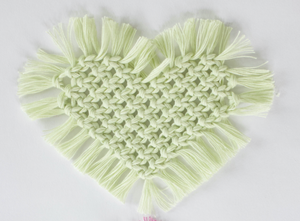 Macrame Heart Coaster Kit