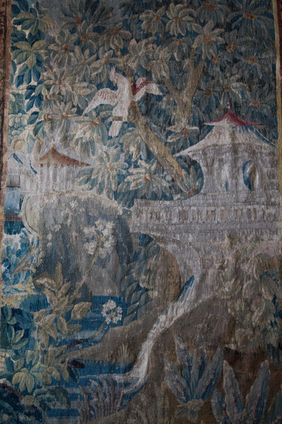 18th Century Aubusson Tapestry in the Chinoiserie Taste after J. B. Pillement Wall Decor Pieces Jacques Antiques