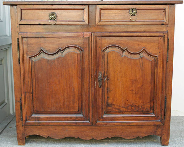18th Century French Country Louis XIV Walnut Buffet or Sideboard Case Pieces and Storage Jacques Antiques