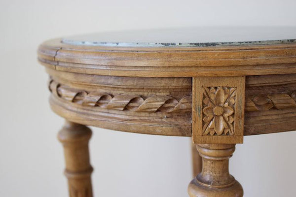 19th Century French Louis XVI Side Table with Marble Top Tables Jacques Antiques