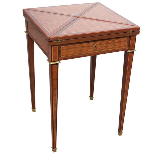 19th Century French Mahogany Handkerchief Card Table Tables Jacques Antiques