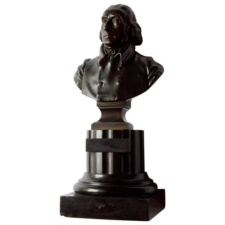 19th Century French Thomas Jefferson Bust in Bronze Decor Items Jacques Antiques