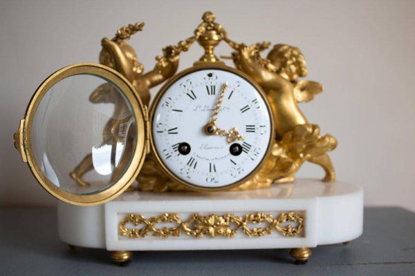 Antique French Gilt Bronze and Marble Clock and Candelabra Set Clocks Jacques Antiques