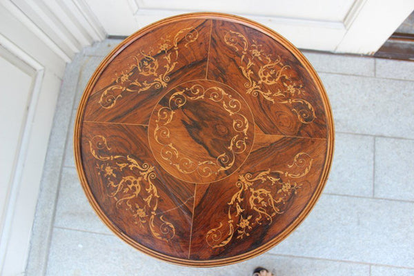 Charles X period Satinwood Inlaid Ladies work table Tables Jacques Antiques