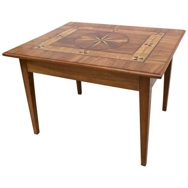 Continental Inlaid Table with Drawer Tables Jacques Antiques