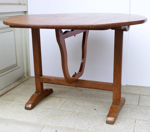 Early 19th Century French Lyre Base Wine Table Tables Jacques Antiques