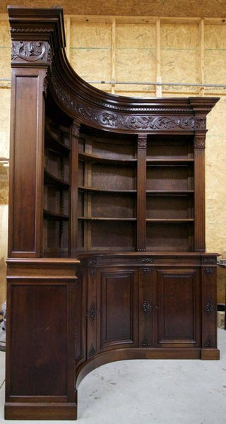End of 19th Century French Walnut Corner Library Case Pieces and Storage Jacques Antiques