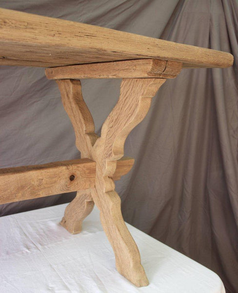 French 18th Century Monastery Oak Trestle Table Tables Jacques Antiques